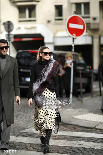 Olivia Palermi is seen outside Altuzarra show during Paris Fashion week Womenswear Fall/Winter 2020/2021 Day Six on February 29 2020 in Paris France