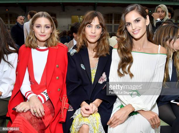 Olivia Palermo Alexa Chung and Izabel Goulart attend the Valentino show as part of the Paris Fashion Week Womenswear Spring/Summer 2018 on October 1...