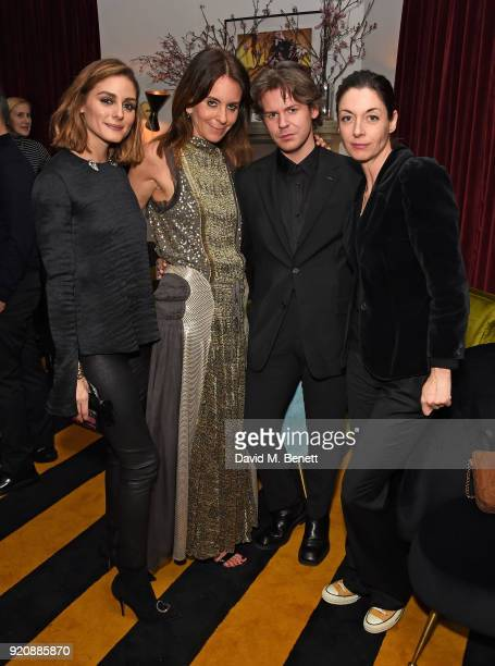 Olivia Palermo Alison Loehnis Christopher Kane and Mary McCartney attend a cocktail party in honour of Alison Loehnis' 10 year anniversary at...