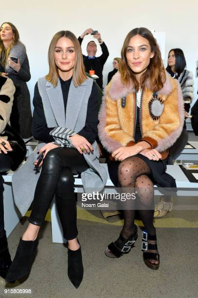 Olivia Palermo and Alexa Chung attend the front row for Noon by Noor during New York Fashion Week The Shows at Gallery II at Spring Studios on...