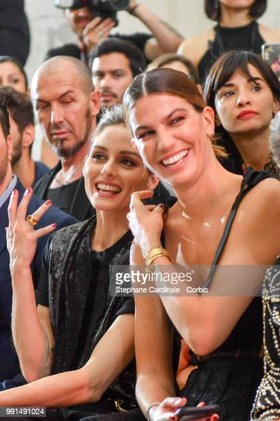 Olivia Palermo and Bianca Brandolini attend the Elie Saab Haute Couture Fall/Winter 20182019 show as part of Haute Couture Paris Fashion Week on July...