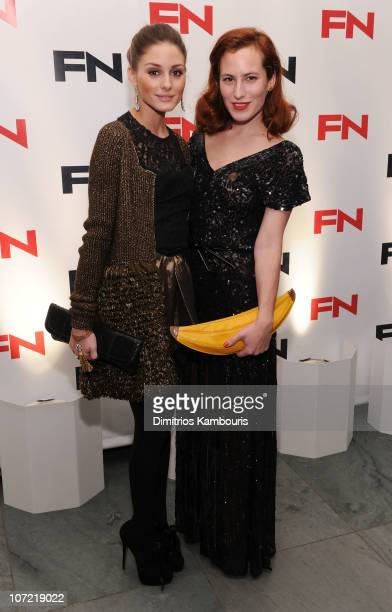 Olivia Palermo and Charlotte Dellal attend Footwear News 24th Annual Achievement Awards at The Museum of Modern Art on November 30 2010 in New York...