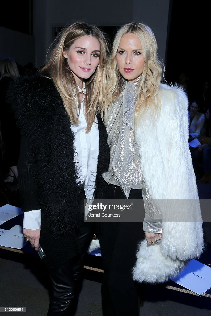 Olivia Palermo (L) and designer Rachel Zoe attend the Altuzarra Fall 2016 fashion show during New York Fashion Week at Spring Studios on February 13, 2016 in New York City.