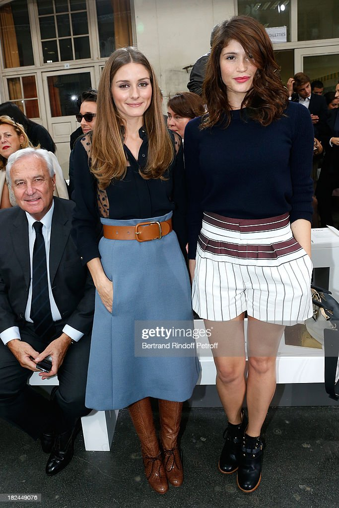 Olivia Palermo and Gemma Arterton attend Chloe show as part of the Paris Fashion Week Womenswear Spring/Summer 2014, held at Lycee Carnot on September 29, 2013 in Paris, France.