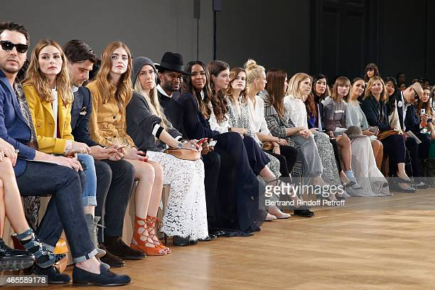 Olivia Palermo and husband Johannes Huebl Chiara Ferragni Guest Guest Kelly Rowland Lorde Heloise Letissier Aymeline Valade and Marina Hands attend...