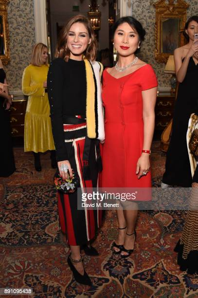 Olivia Palermo and Iris Alexander attend the launch of the Iris Alexander Fine Diamond Jewellery Collection hosted by Olivia Palermo at The Ritz on...