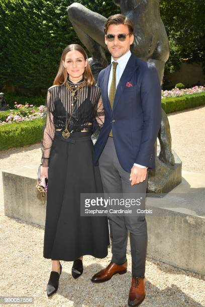 Olivia Palermo and Joannes Huebl attend the Christian Dior Haute Couture Fall/Winter 2018-2019 show as part of Haute Couture Paris Fashion Week on...