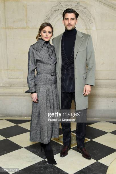 Olivia Palermo and Joannes Huebl attend the Christian Dior show as part of the Paris Fashion Week Womenswear Fall/Winter 2018/2019 on February 27...