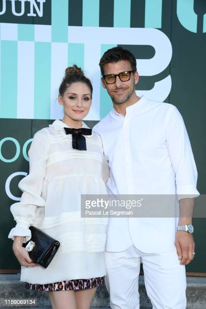 Olivia Palermo and Johannes Hubble attends miu miu club event at Hippodrome d'Auteuil on June 29 2019 in Paris France