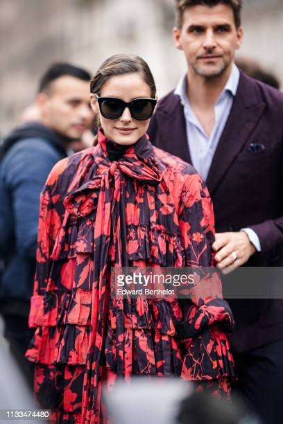 Olivia Palermo and Johannes Huebl are seen outside Valentino during Paris Fashion Week Womenswear Fall/Winter 2019/2020 on March 03 2019 in Paris...