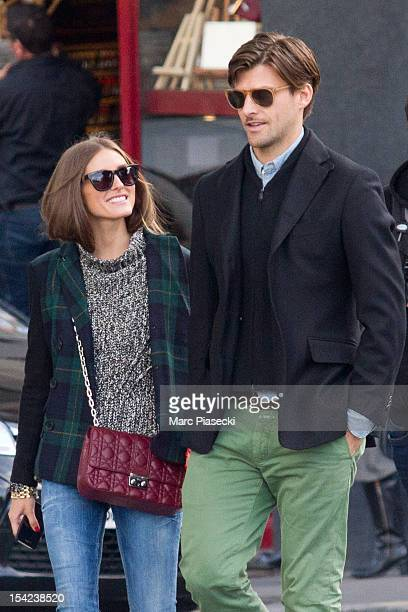 Olivia Palermo and Johannes Huebl are seen strolling on October 16 2012 in Paris France