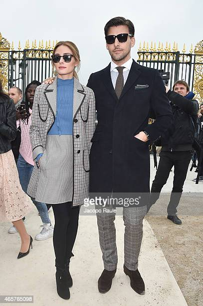 Olivia Palermo and Johannes Huebl arrive at Valentino Fashion Show during Paris Fashion Week Fall Winter 2015/2016 on March 10 2015 in Paris France