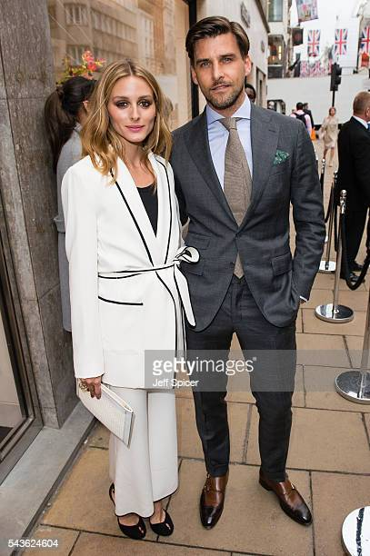 Olivia Palermo and Johannes Huebl arrive for the RIMOWA store opening on June 29 2016 in London England