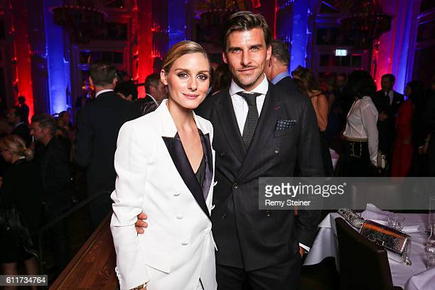 Olivia Palermo and Johannes Huebl at the Tommy Hilfiger Dinner in celebration of the 12th Zurich Film Festival on September 30, 2016 in Zurich,...