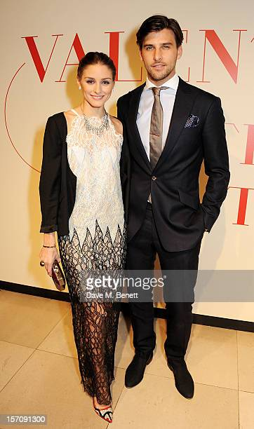 Olivia Palermo and Johannes Huebl attend a private view of 'Valentino Master Of Couture' exhibiting from November 29th 2012 March 3 at Somerset House...