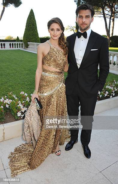 Olivia Palermo and Johannes Huebl attend amfAR's 20th Annual Cinema Against AIDS during The 66th Annual Cannes Film Festival at Hotel du CapEdenRoc...