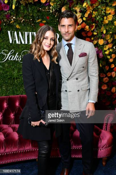 Olivia Palermo and Johannes Huebl attend as Vanity Fair and Saks Fifth Avenue celebrate Vanity Fair's Best-Dressed 2018 at Manhatta on September 12,...
