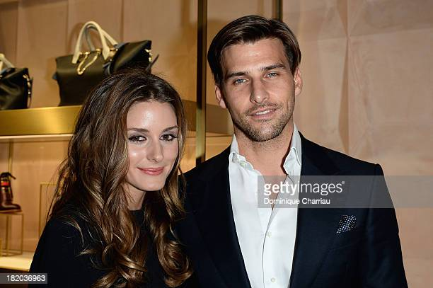 Olivia Palermo and Johannes Huebl attend 'Chloe Attitudes' book launch celebration cocktail as part of show as part of the Paris Fashion Week...