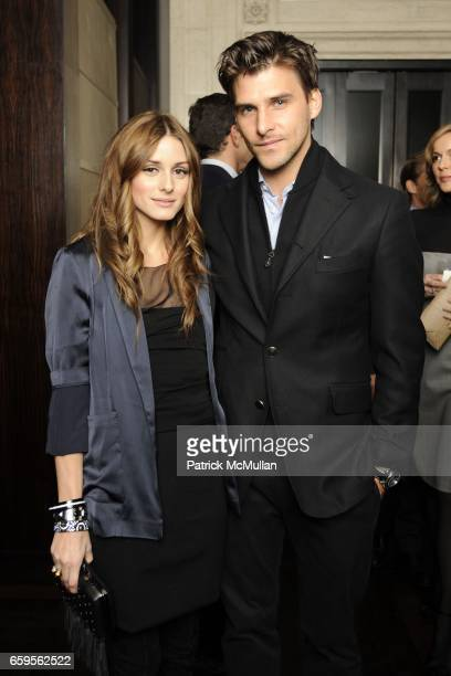 Olivia Palermo and Johannes Huebl attend Gwyneth Paltrow and VBH's Bruce Hoeksema Host Cocktail Party for Valentino The Last Emperor at VBH on...