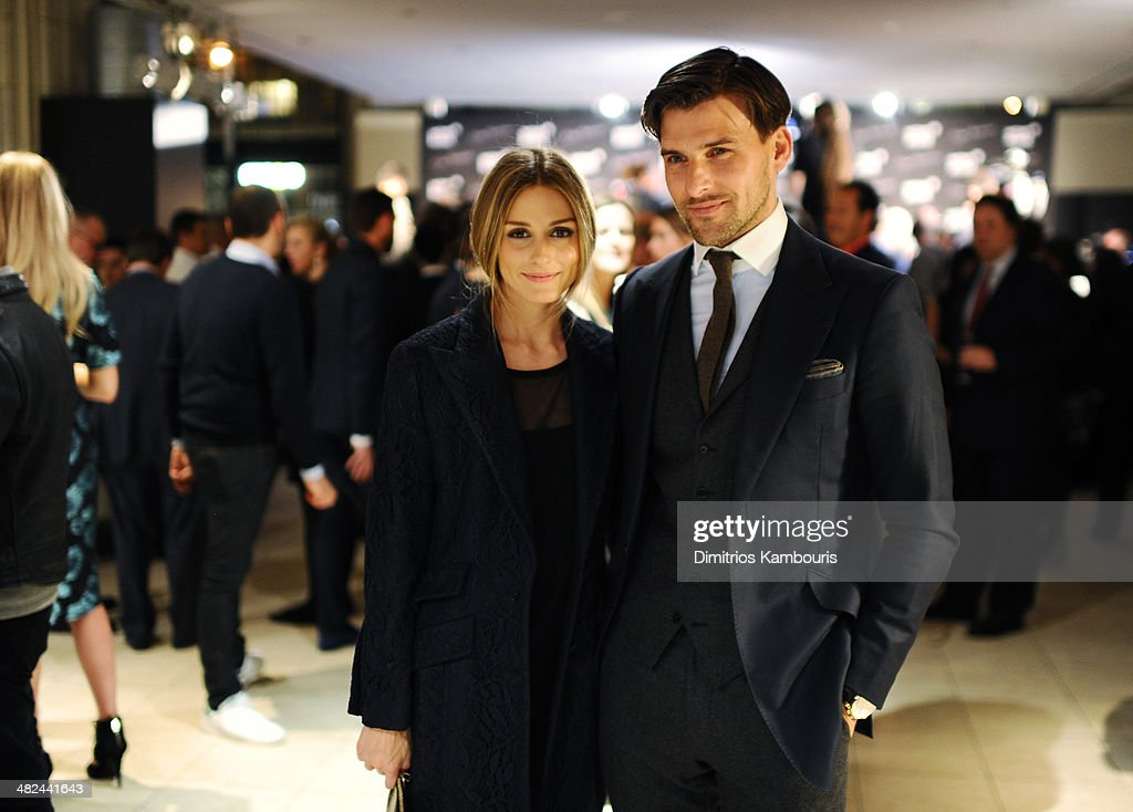 Olivia Palermo (L) and Johannes Huebl attend Montblanc Celebrates 90 Years of the Iconic Meisterstuck on April 3, 2014 at Guastavino's in New York City.