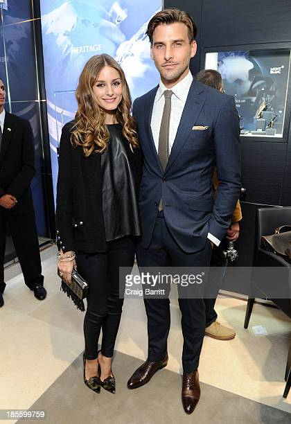 Olivia Palermo and Johannes Huebl attend Montblanc celebrates Madison Avenue Boutique Opening at Montblanc Boutique on Madison Avenue on October 22...