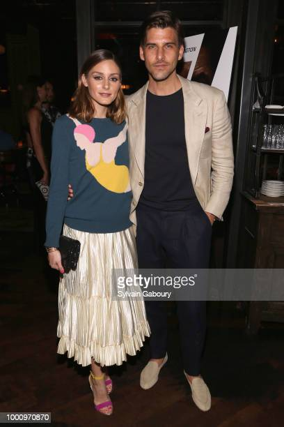 Olivia Palermo and Johannes Huebl attend Sony Pictures hosts a special screening of The Equalizer 2 on July 17 2018 in New York City