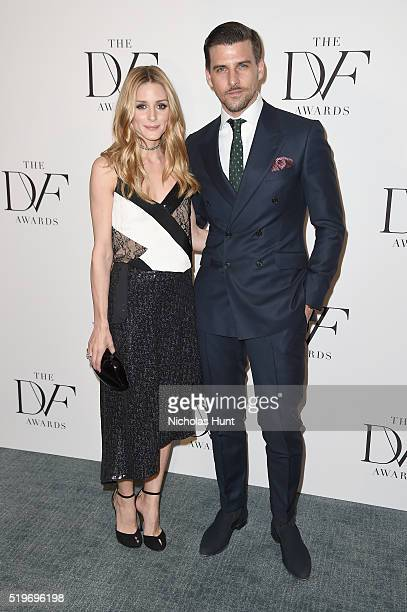Olivia Palermo and Johannes Huebl attend the 2016 DVF Awards at United Nations on April 7 2016 in New York City