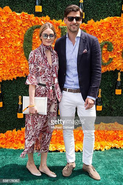 Olivia Palermo and Johannes Huebl attend the 2016 Veuve Clicquot Polo Classic at Liberty State Park on June 4 2016 in Jersey City New Jersey