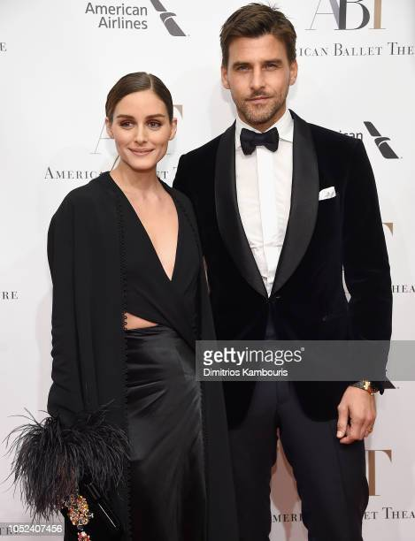 Olivia Palermo and Johannes Huebl attend The American Ballet Theatre 2018 Fall Gala at David H. Koch Theater, Lincoln Center on October 17, 2018 in...
