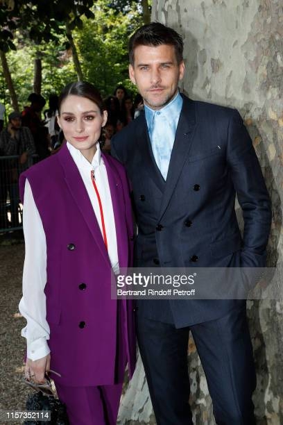 Olivia Palermo and Johannes Huebl attend the Berluti Menswear Spring Summer 2020 show as part of Paris Fashion Week on June 21, 2019 in Paris, France.