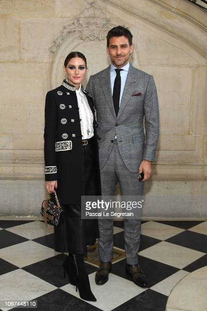 Olivia Palermo and Johannes Huebl attend the Christian Dior Haute Couture Spring Summer 2019 show as part of Paris Fashion Week on January 21 2019 in...