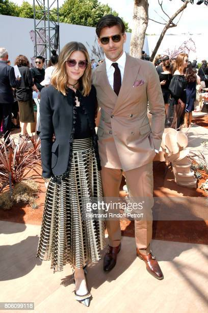 Olivia Palermo and Johannes Huebl attend the Christian Dior Haute Couture Fall/Winter 20172018 show as part of Haute Couture Paris Fashion Week on...