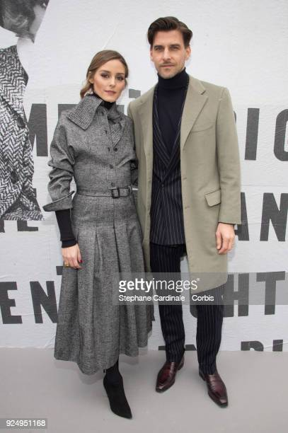 Olivia Palermo and Johannes Huebl attend the Christian Dior show as part of the Paris Fashion Week Womenswear Fall/Winter 2018/2019 on February 27...