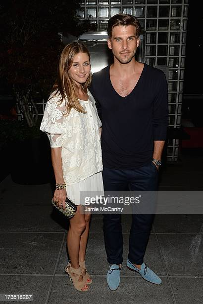 Olivia Palermo and Johannes Huebl attend The Cinema Society Brooks Brothers Host A Screening Of Lionsgate And Roadside Attractions' Girl Most Likely...