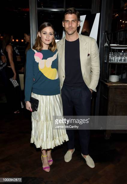 "Olivia Palermo and Johannes Huebl attend ""The Equalizer 2"" New York Screening at The Roxy Hotel on July 17, 2018 in New York City."
