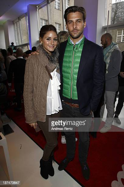 Olivia Palermo and Johannes Huebl attend the Gala Fashion Brunch during MercedesBenz Fashion Week Berlin Autumn/Winter 2012 at Ellington Hotel on...