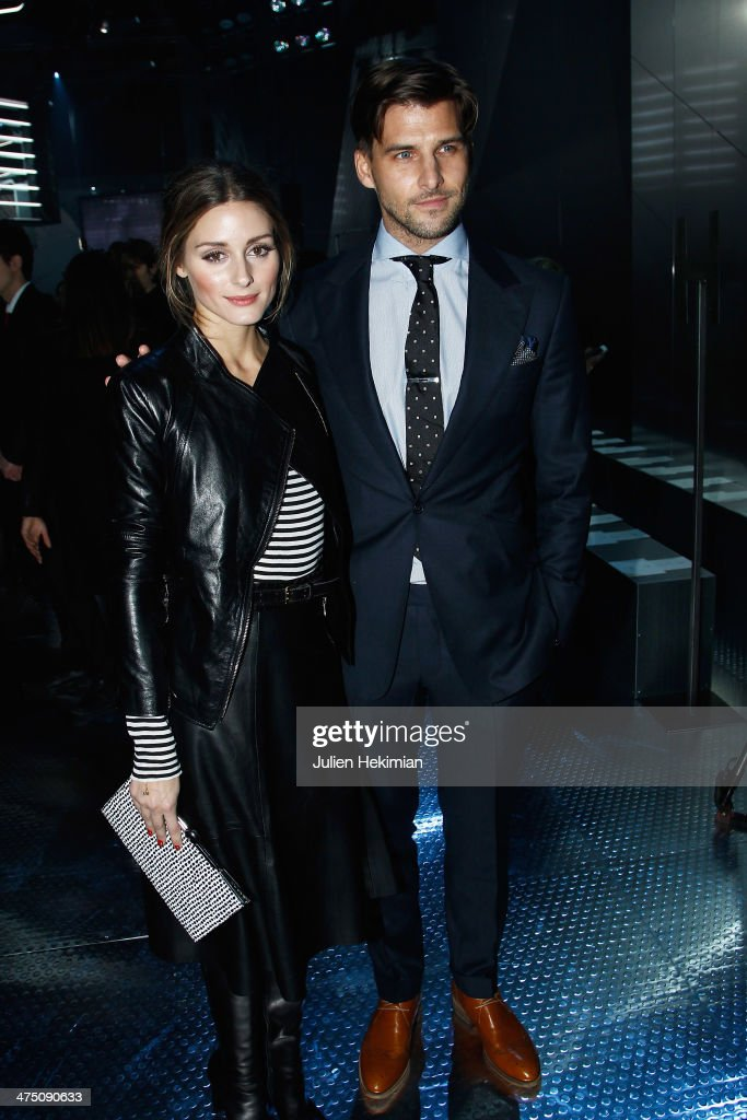 Olivia Palermo and Johannes Huebl attend the H&M show as part of the Paris Fashion Week Womenswear Fall/Winter 2014-2015 on February 26, 2014 in Paris, France.