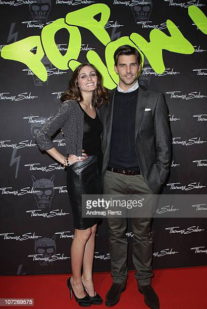 Olivia Palermo and Johannes Huebl attend the launch party for Thomas Sabo's Sterling Silver collection S/S 2011 at Soho House on December 2 2010 in...