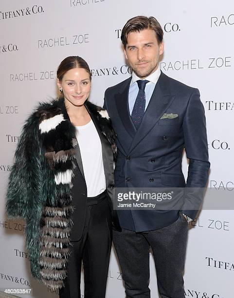 Olivia Palermo and Johannes Huebl attend the Living In Style Inspiration and Advice for Everyday Glamour at Tiffany Co on March 24 2014 in New York...