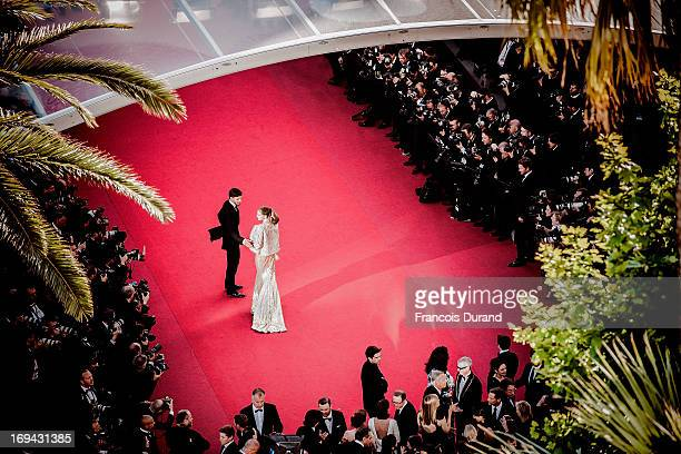 Olivia Palermo and Johannes Huebl attend the 'The Immigrant' premiere during The 66th Annual Cannes Film Festival at the Palais des Festivals on May...