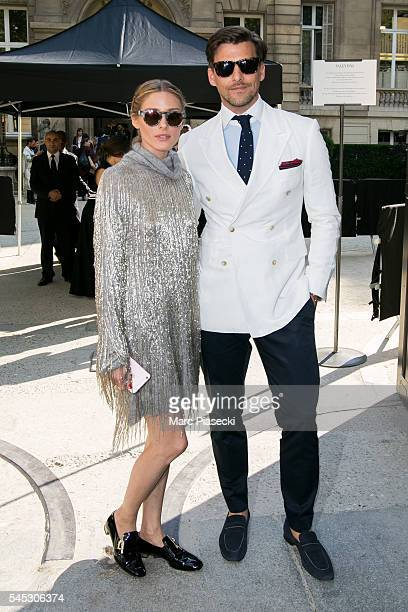 Olivia Palermo and Johannes Huebl attend the Valentino Haute Couture Fall/Winter 20162017 show as part of Paris Fashion Week on July 6 2016 in Paris...