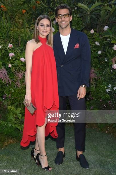 Olivia Palermo and Johannes Huebl attend the Valentino Haute Couture Fall Winter 2018/2019 show as part of Paris Fashion Week on July 4 2018 in Paris...