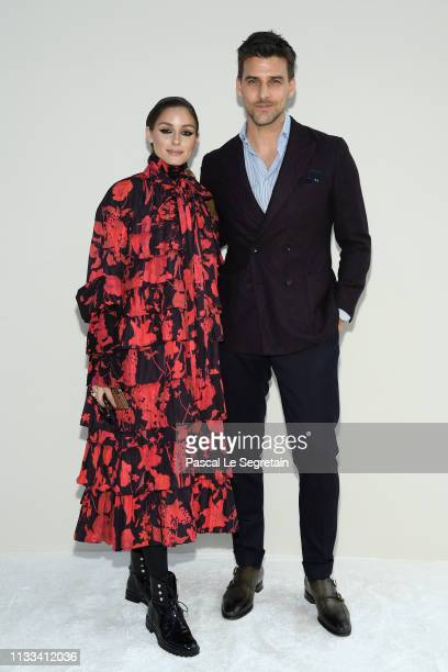 Olivia Palermo and Johannes Huebl attend the Valentino show as part of the Paris Fashion Week Womenswear Fall/Winter 2019/2020 on March 03, 2019 in...