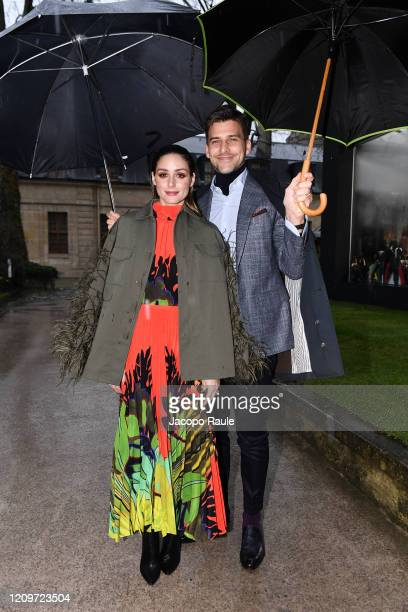 Olivia Palermo and Johannes Huebl attend the Valentino show as part of the Paris Fashion Week Womenswear Fall/Winter 2020/2021 on March 01, 2020 in...
