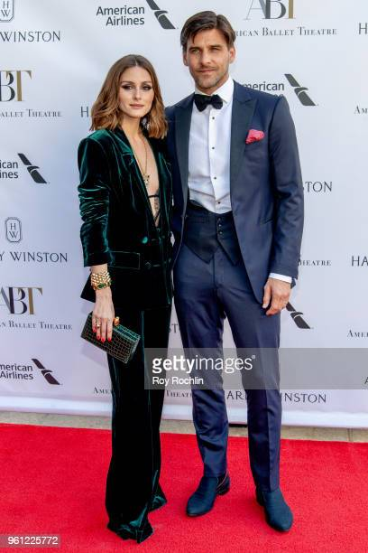 Olivia Palermo and Johannes Huebl attends the 2018 American Ballet Theatre Spring Gala at The Metropolitan Opera House on May 21 2018 in New York City