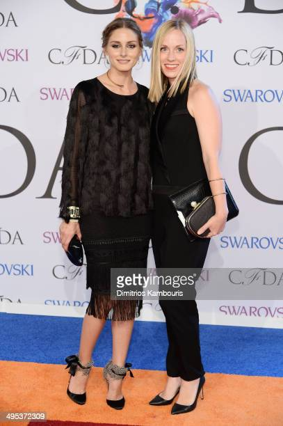 Olivia Palermo and Lisa Axelson attend the 2014 CFDA fashion awards at Alice Tully Hall Lincoln Center on June 2 2014 in New York City