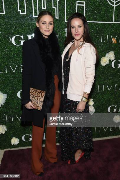Olivia Palermo and Livelihood founder Ashley Biden attend the GILT and Ashley Biden celebration of the launch of exclusive Livelihood Collection at...