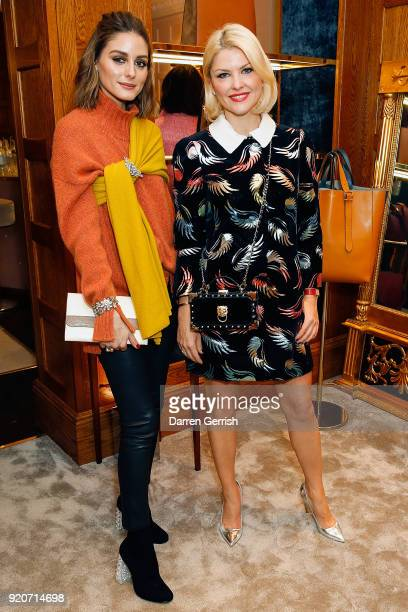 Olivia Palermo and Mariya Dykalo attend an Aspinal event at the Aspinal store at 16 Regent Street St James on February 19 2018 in London England