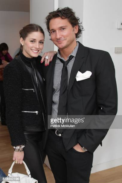 Olivia Palermo and Matthew Marchak attend SUSAN WOO F/W 2010 Presentation supported by Belvedere at Bryant Park Hotel on February 13 2010 in New York...