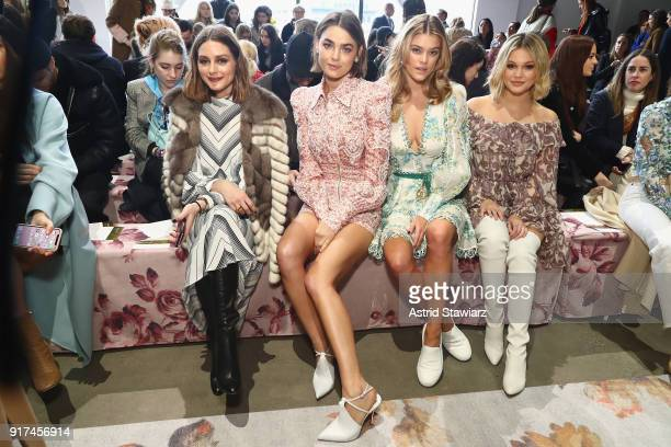Olivia Palermo and models Bambi NorthwoodBlyth and Nina Agdal and guest attend the Zimmermann fashion show during New York Fashion Week The Shows at...
